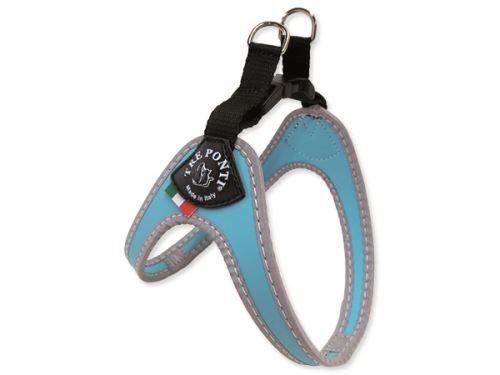 Tre Ponti Reflexní postroj pro psy světle modrý