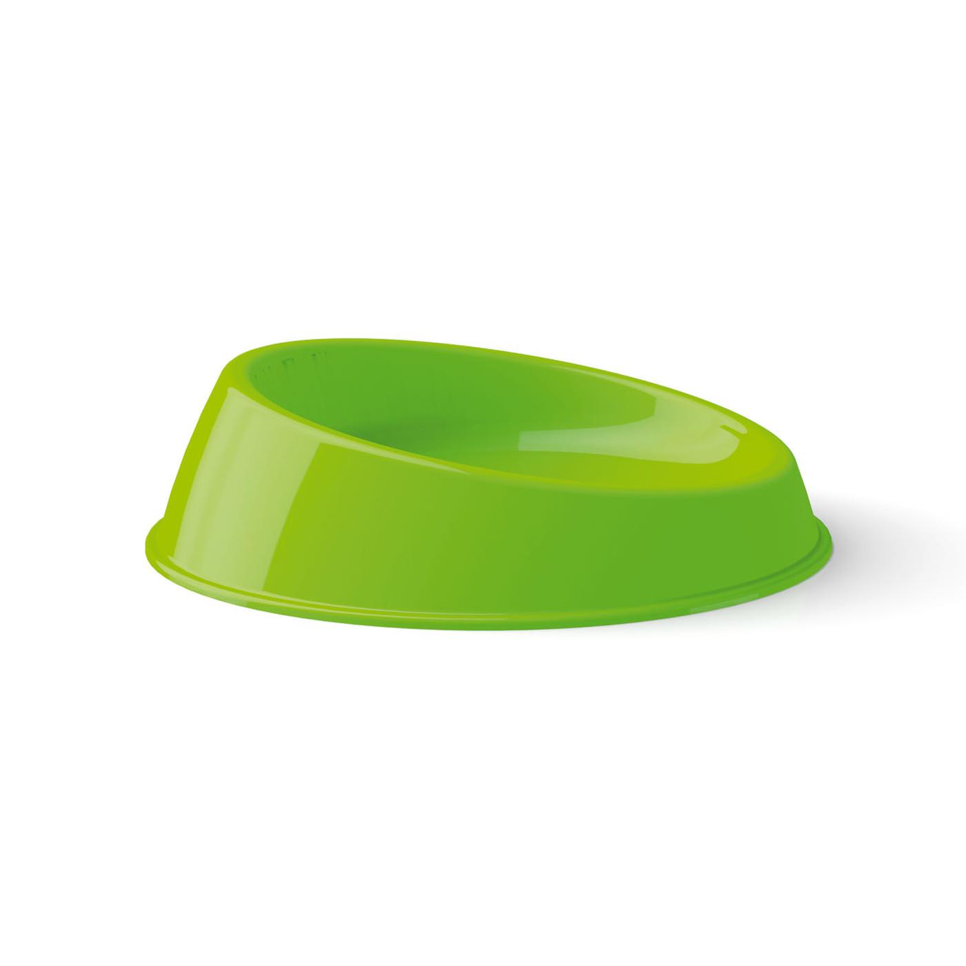 Plastová miska pro kočky Argi - zkosená - zelená - 19 x 5 cm