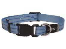 Obojek pro štěňata - nylonový - Rogz YoYo - modrý - 1,2 x 19 - 30 cm