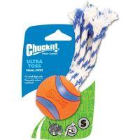 Chuckit! Ultra Toss gumový aportovací míček s vlasy - velikost S, 5 cm