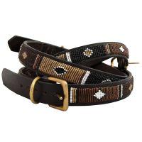 Non-Stop Dogwear Earth Masajský kožený obojek, velikost 18