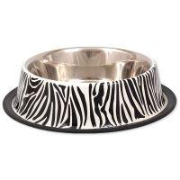 Miska DOG FANTASY nerezová s gumou zebra 25 cm