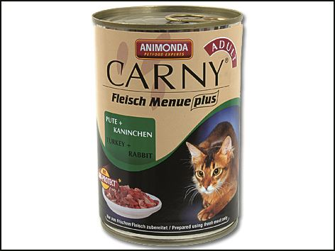 Animonda Carny Konzerva - krůta & králík pro dospělé kočky 400 g