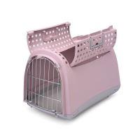 Přepravka pro kočky a psy Cabrio Argi - růžová - 50x32x34,5 cm