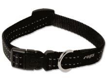 Obojek pro psa nylonový - Rogz Utility - černý - 1,6 x 26-40 cm