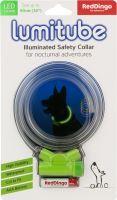 Obojek pro psa svítící - Red Dingo Lumitube led - zelený - 15 - 80 cm