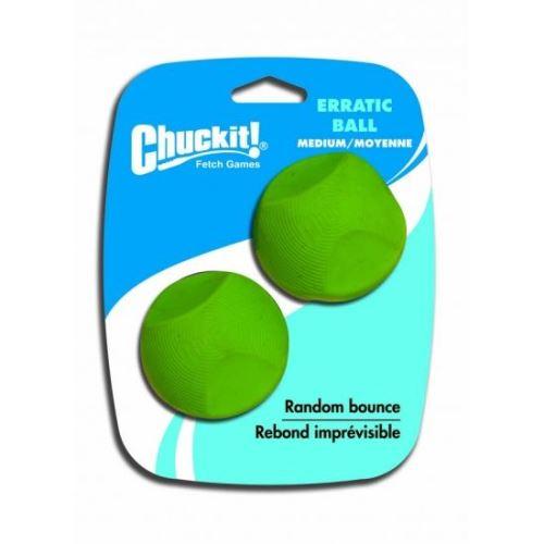 Chuckit! Erratic gumové aportovací míčky s nevypočitatelným odskokem, 2 ks