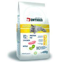 Ontario Adult Indoor - kuřecí pro kočky žijící uvnitř 400 g