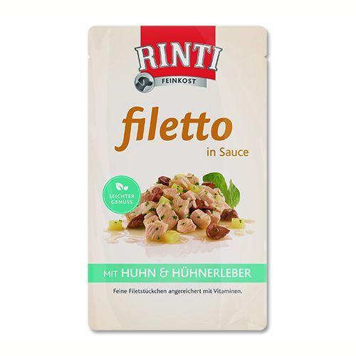 Rinti Filetto kapsička - kuře & kuřecí játra v omáčce 125 g