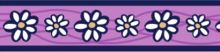 Obojek Red Dingo 12 mm x 20-32 cm - Daisy Chain Purple