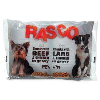 Kapsička Rasco Dog s kuřecím a hovězím/s jehněčím a kuřecím 4x100g