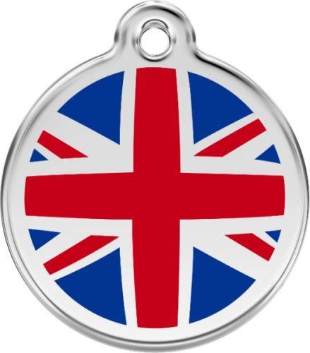 Red Dingo Známka modrá vzor britská vlajka