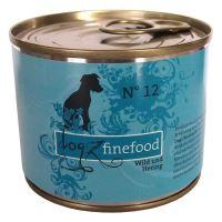 Dogz Finefood No.12 Konzerva - zvěřina & sleď pro psy