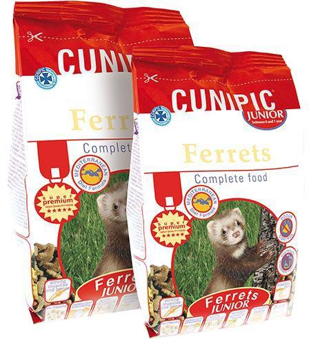 Cunipic Ferrets Junior Krmivo pro mladé fretky 600 g
