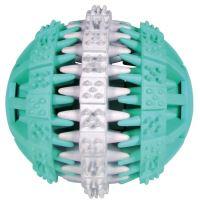 Trixie Dentafun Míč s mátou zeleno-bílý, 7 cm