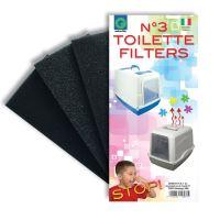 Náhradní filtry do toalet 3 ks Argi - 9 x 18 x 2 cm