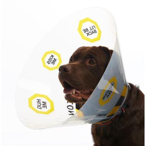 Kruuse Buster Design Collar Plastový ochranný límec s potiskem pro psy