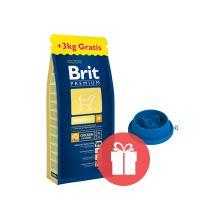 Brit Premium Junior M 15 kg + 3 kg ZDARMA + miska ZDARMA