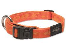 Obojek pro psa nylonový - Rogz Alpinist - oranžový - 2 x 34 - 56 cm