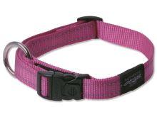 Obojek pro psa nylonový - Rogz Utility - růžový - 2 x 34 - 56 cm
