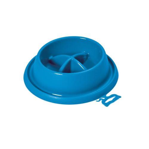 Plastová miska proti hltání s protiskluzem Argi - červená - 21,5 x 20,5 x 5,5 cm
