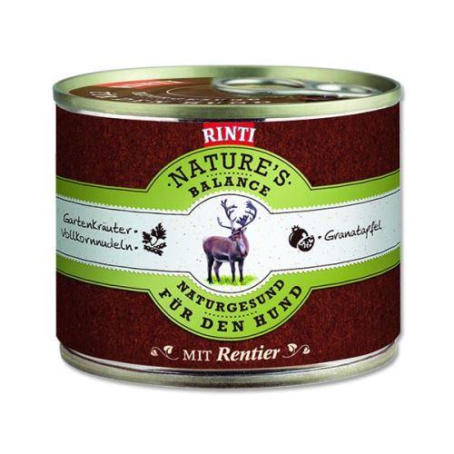 Rinti Nature's Balance Konzerva sob & těstoviny & vejce pro psy