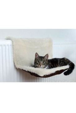 Trixie závěsné lůžko na topení, semišový vzhled béžovo hnědý, 45x26x31 cm