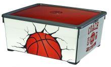 Curver úložný box, vzor basket,  18l