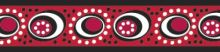 Red Dingo Obojek polos. 25 mm x 41-62 cm - Cosmos Red