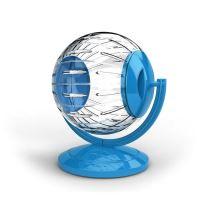 Koule se stojanem pro hlodavce Argi - modrá - 12,5 cm