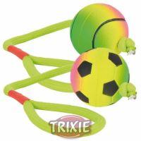 Neonový míč na šňůře, mechová guma, 6cm/30cm TRIXIE