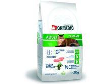 Ontario Adult Castrate - kuřecí pro kastrované kočky 2 kg