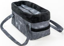 "Transp.Taška softshell "" Džína LUX"" riflová černá 30 cm"