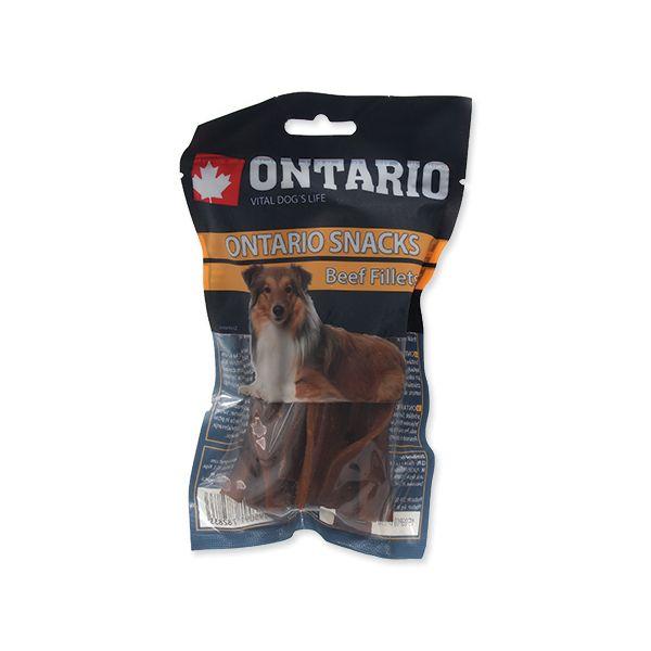 Snack ONTARIO Dog Rawhide Beef Fillets 12,5 cm