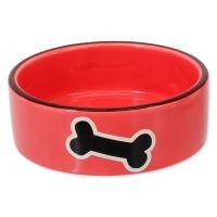 Miska DOG FANTASY keramická potisk kost červená 12,5 cm 0,29l