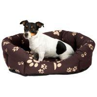 Samohýl Exclusive Sucharda Tlapka Pelíšek osmihranný nylonový s polštářem pro psy hnědo-béžový, 70 cm