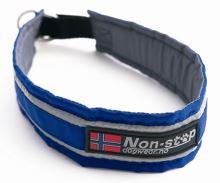 Non-Stop Dogwear polostahovací obojek modrý, 40 cm