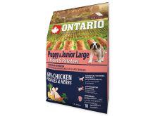 ONTARIO Puppy & Junior Large Chicken & Potatoes & Herbs 2,25 kg