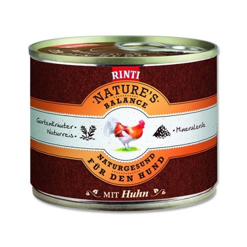 Rinti Nature's Balance Konzerva pro psy kuřecí & hnědá rýže & vejce
