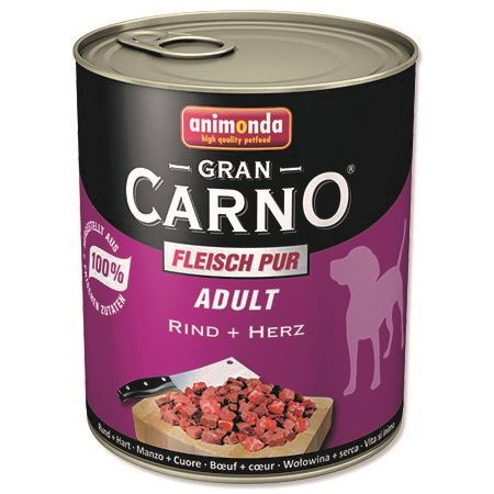 Animonda Gran Carno Adult Konzerva - hovězí & srdce pro psy 800 g