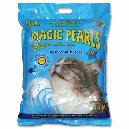Magic Pearls Litter Cool Breeze podestýlka s vůní chladného vánku 16 l