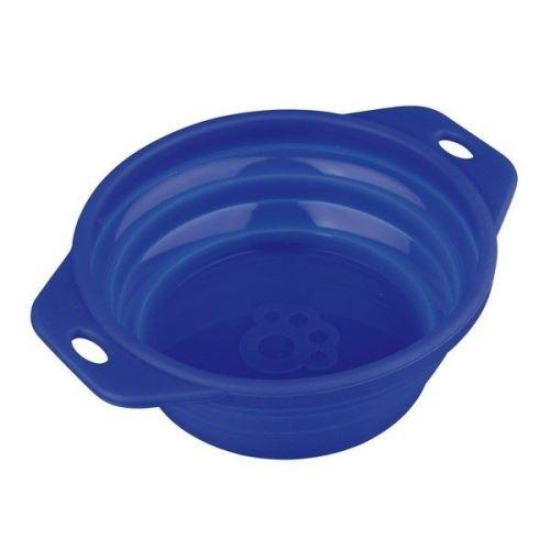 Trixie silikonová miska pro psy cestovní sklapovací modrá 500 ml - 14 cm
