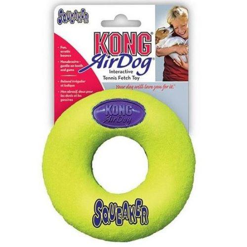 Kong Air Dog Tenis Donut Pískací gumový kroužek ve tvaru koblihy