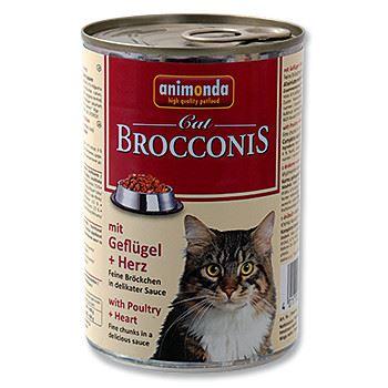 Animonda Brocconis Konzerva - drůbež & srdce pro dospělé kočky 400 g