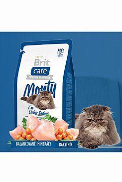 Brit Care Cat Monty I`m Living Indoor - kuře & rýže pro kočky žijící uvnitř