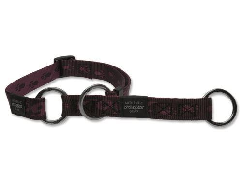 Obojek pro psa nylonový polostahovací - Rogz Alpinist - fialový - 2 x 34 - 56 cm