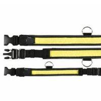 Trixie obojek Flash + reflexní žluto/černý 40-55/35mm