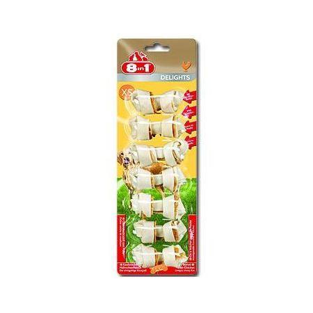8in1 Delights žvýkací kosti - velikost XS 118 g