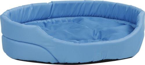Pelech pro zvířata Argi oválný s polštářem - modrý - 40 x 30 x 12 cm