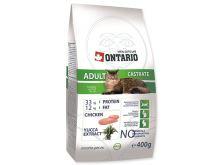 Ontario Adult Castrate - kuřecí pro kastrované kočky 400 g